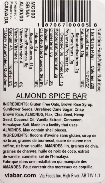 Almond Spice info
