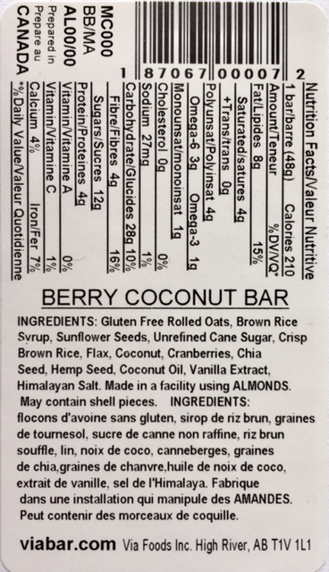 Berry Coconut info