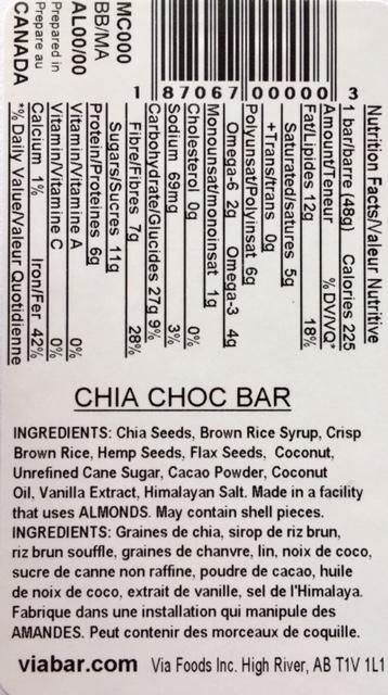 Chia Choc info
