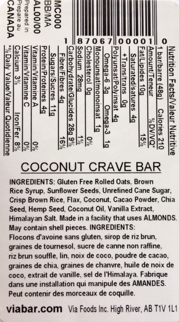Coconut Crave info